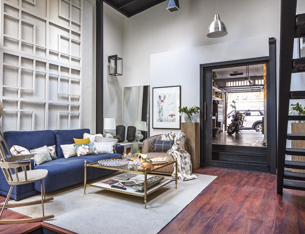 Un loft in stile industriale for Salotto stile industriale