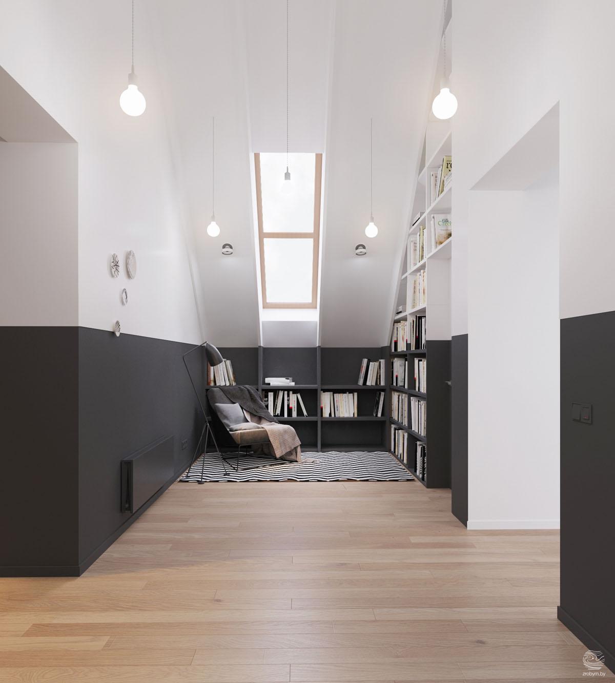 Idee per trasformare il sottotetto in un angolo lettura for Arredare un angolo