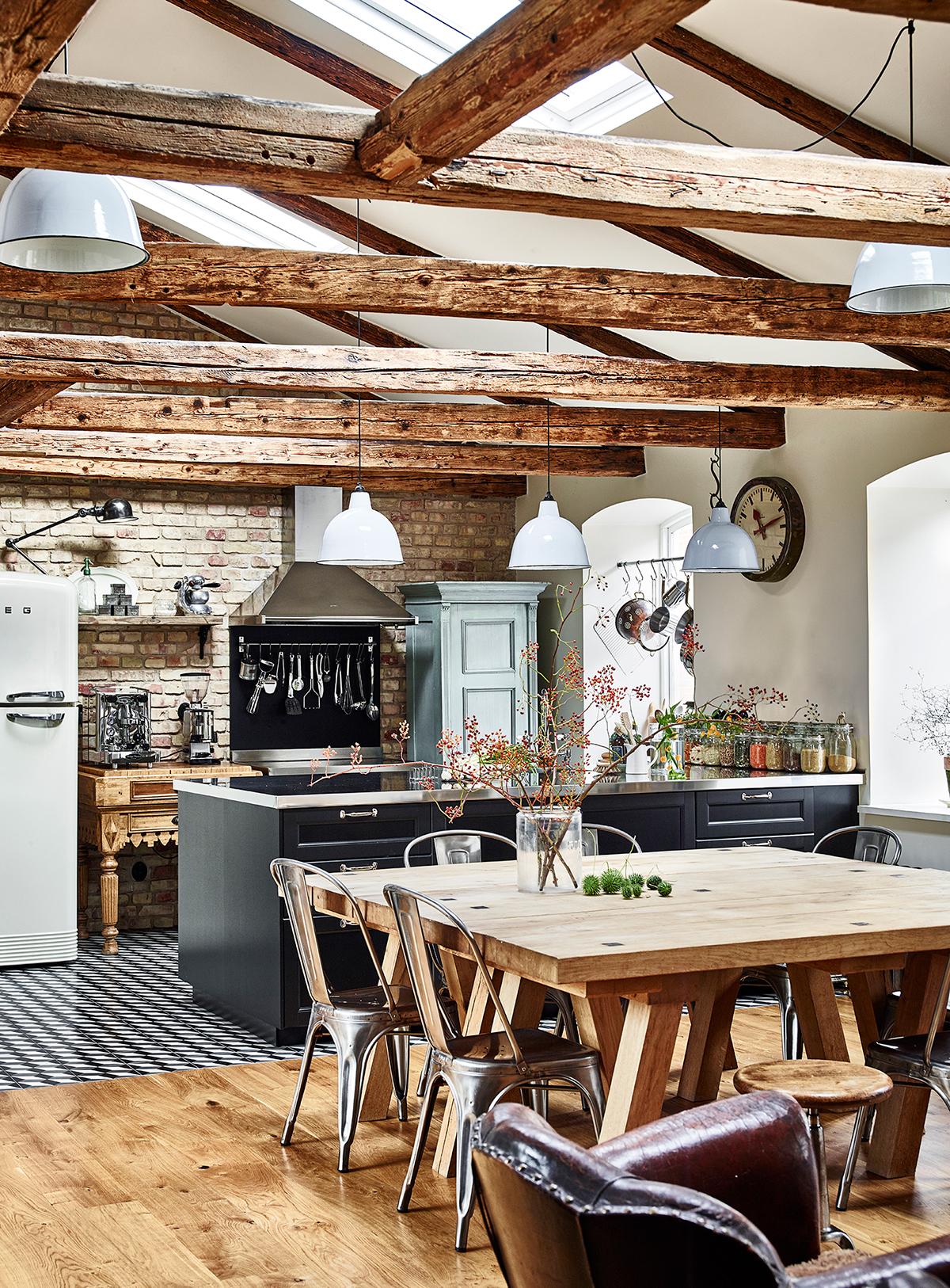 Una mansarda dal fascino rustico industriale - Casa stile country rustico ...