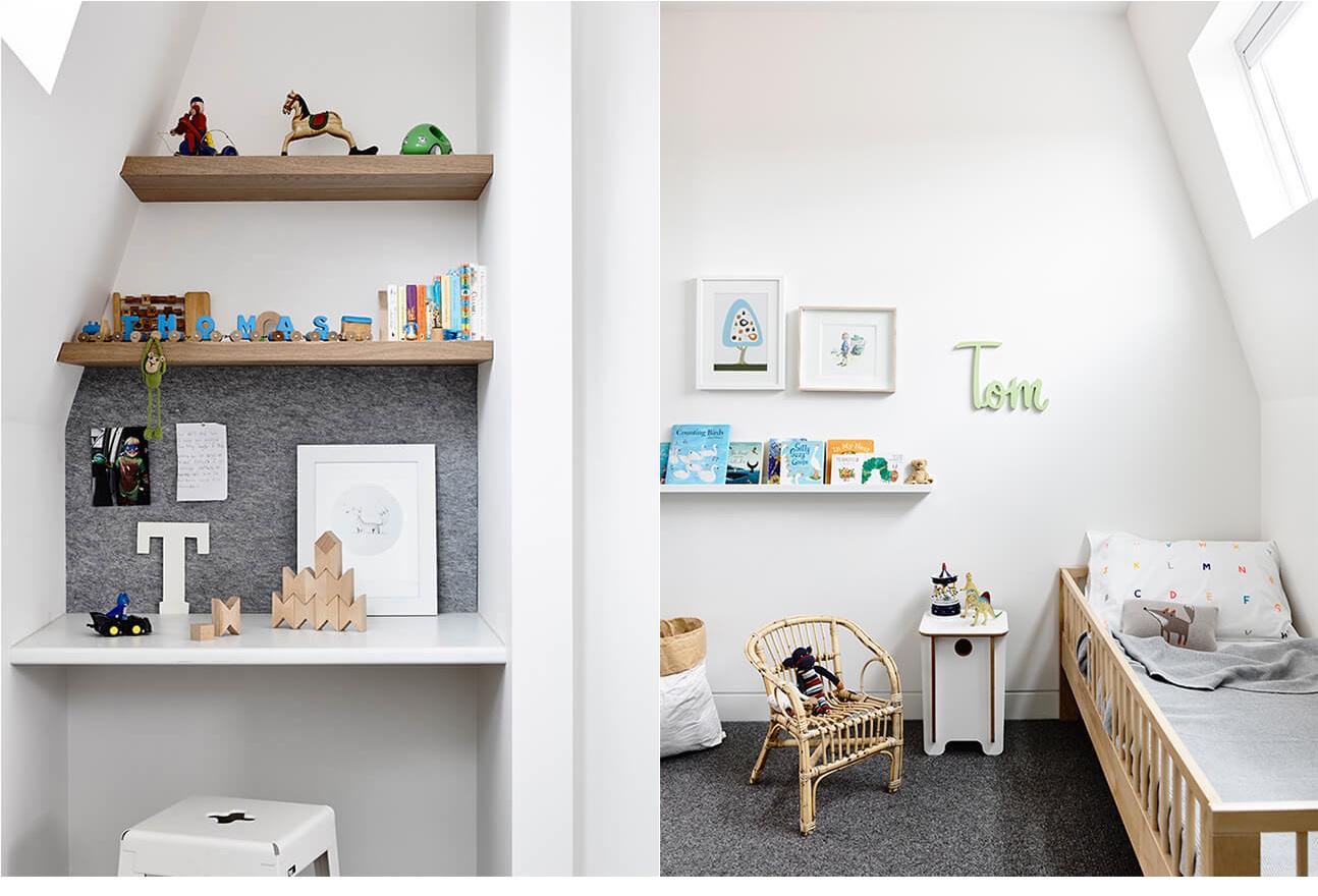 Camerette per bambini in mansarda for Idee mensole cameretta