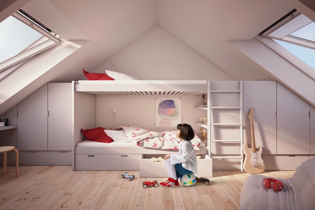 Cameretta in mansarda foto immagini e idee for Camerette per bambini piccoli spazi