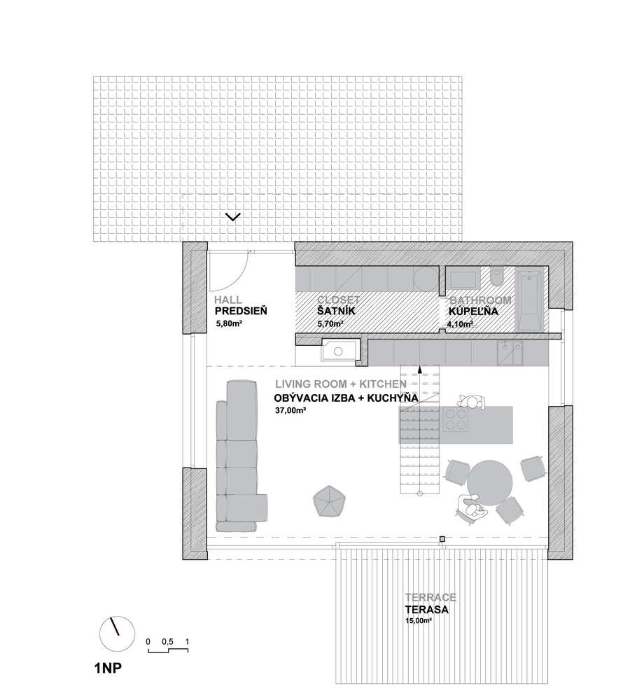 Una casa unifamiliare for Piani a pianta aperta