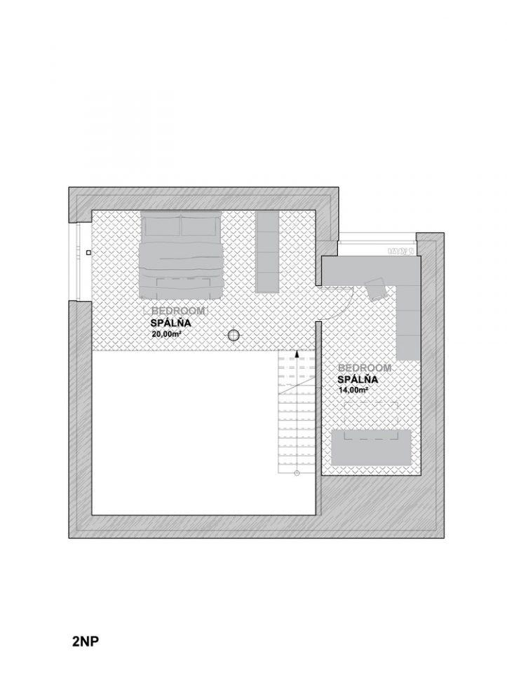 La pianta dei due piani