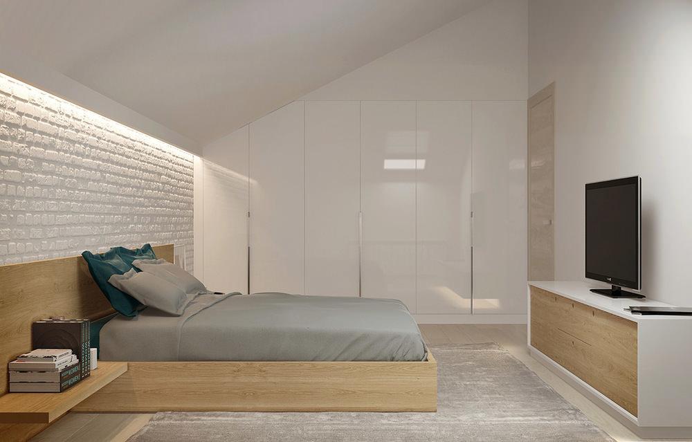 Come trasformare un sottotetto in una camera da letto for Mobili per mansarda