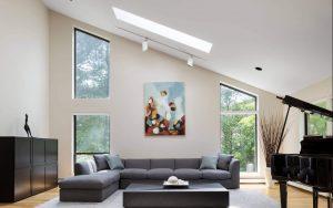 Una casa di famiglia con finestre per tetti - Finestre per tetti piani ...