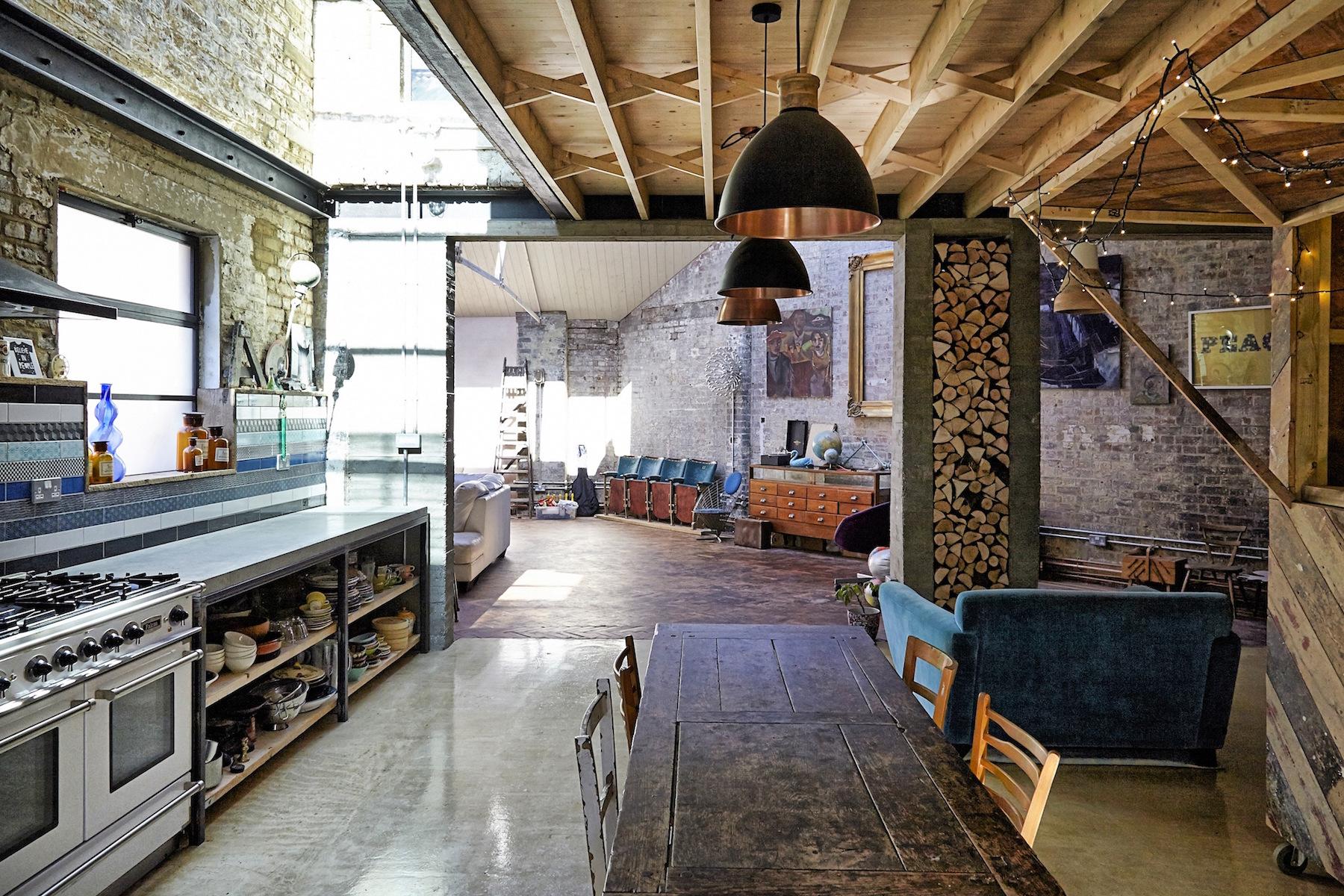 Un loft dallo stile rustico a londra for Casa vittoriana in mattoni