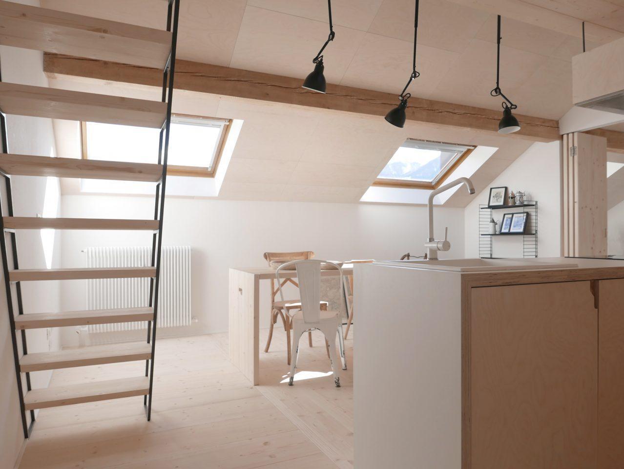 Idee Per Dividere Zona Giorno idee per dividere gli spazi di una mansarda - mansarda.it