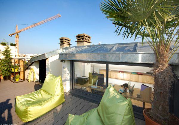 Zona relax in terrazza