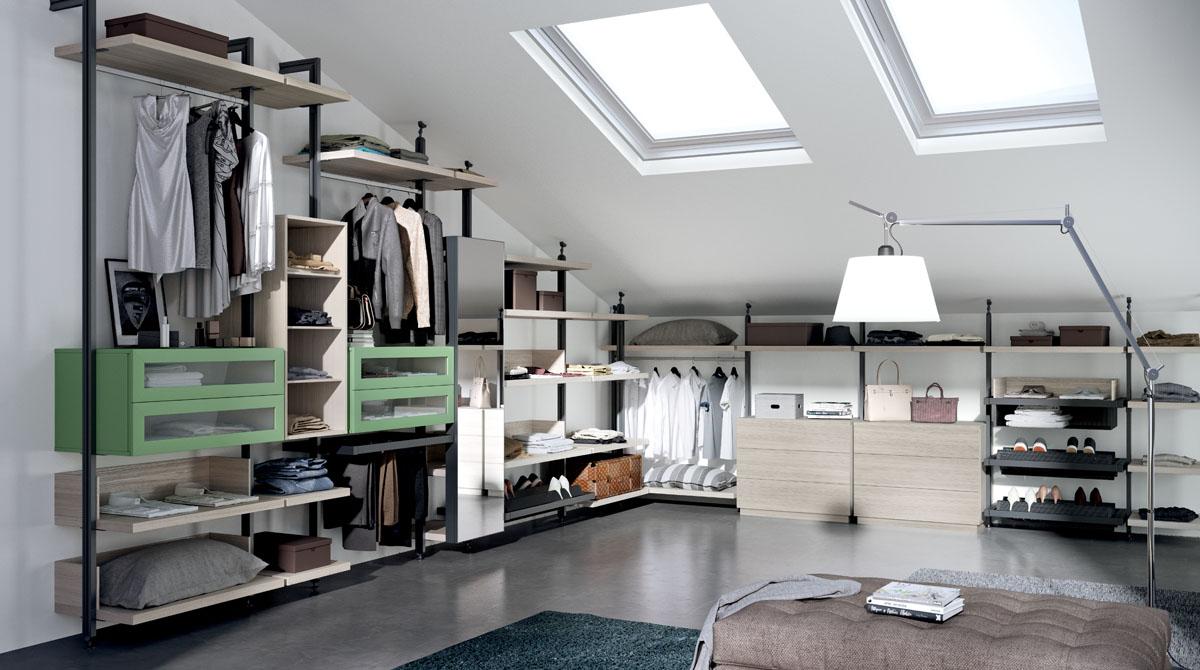 Come trovare l 39 armadio giusto per gli spazi della mansarda - Cabine armadio in mansarda ...