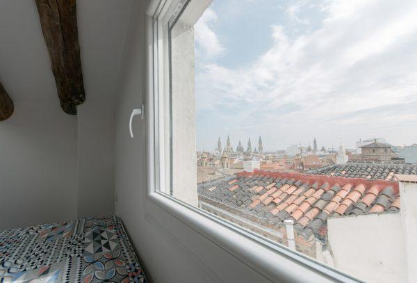 Vista dalla finestra della camera da letto