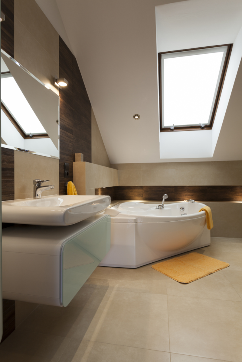 Idee per un nuovo bagno in mansarda - Bagno in mansarda non abitabile ...