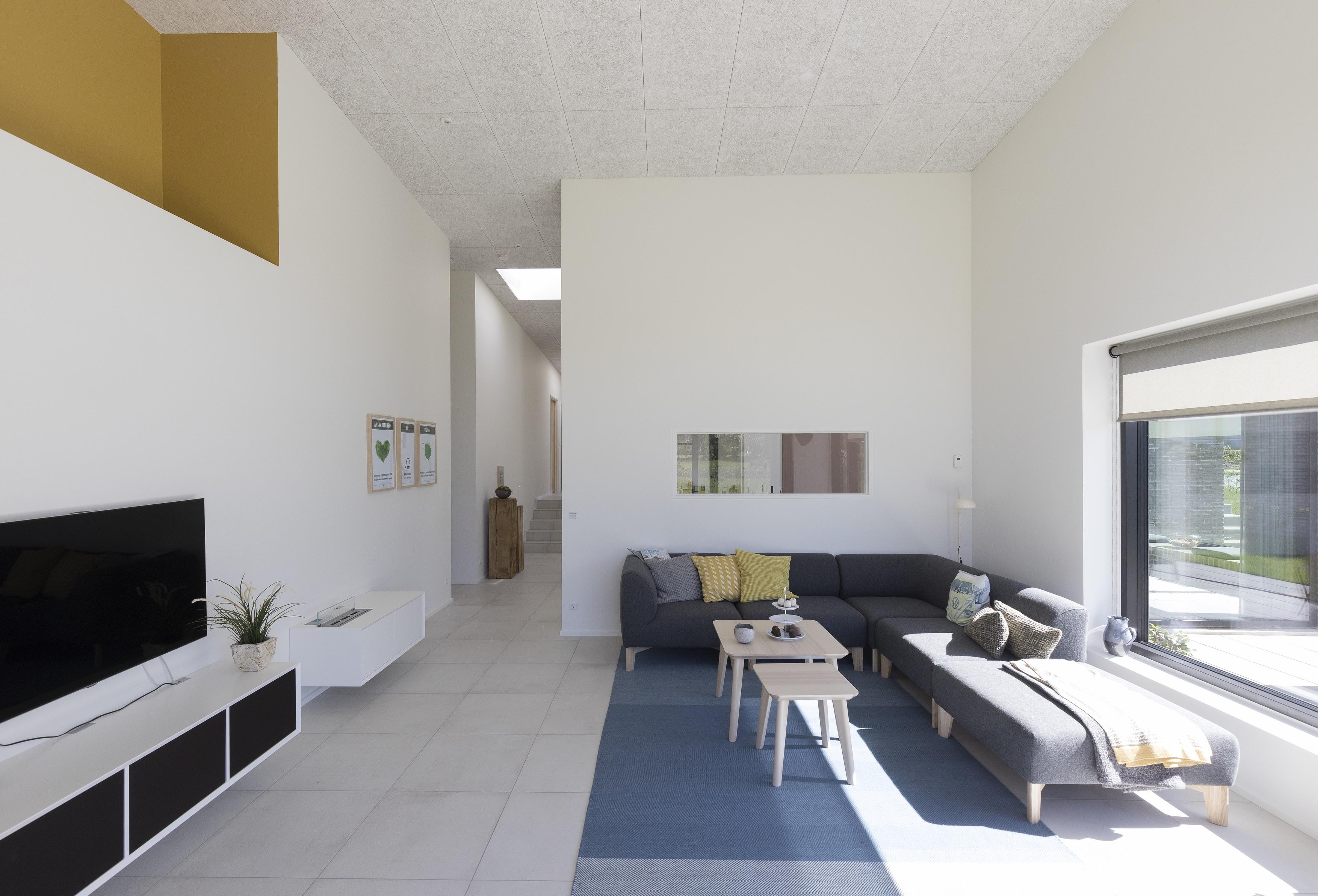 Una casa attiva con tetto piano for Artigiani piani casa fresca