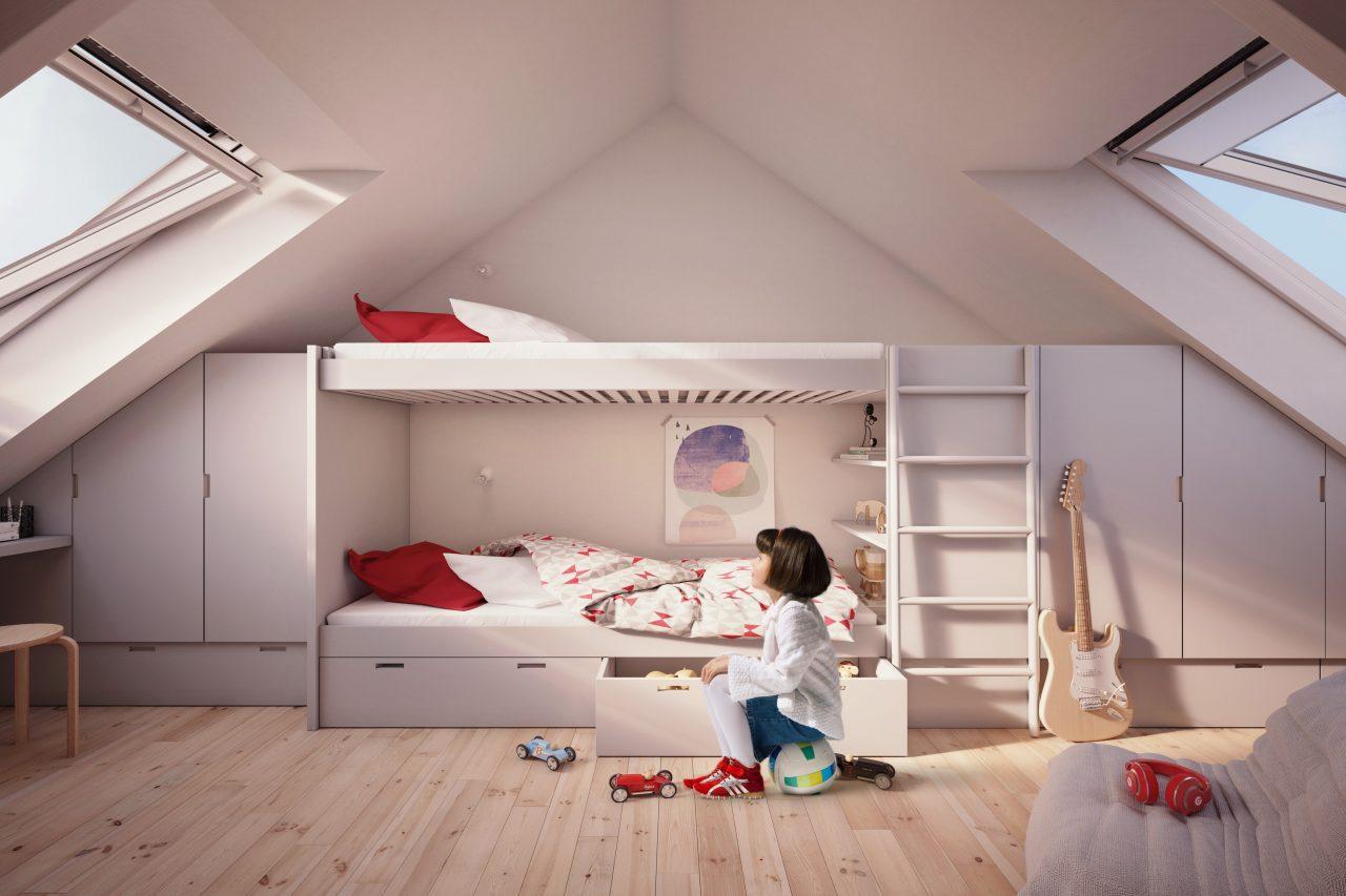 Camerette per bambini for Arredamento per sottotetto