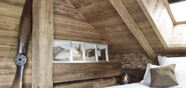 Un rivestimento in legno dallo stile moderno