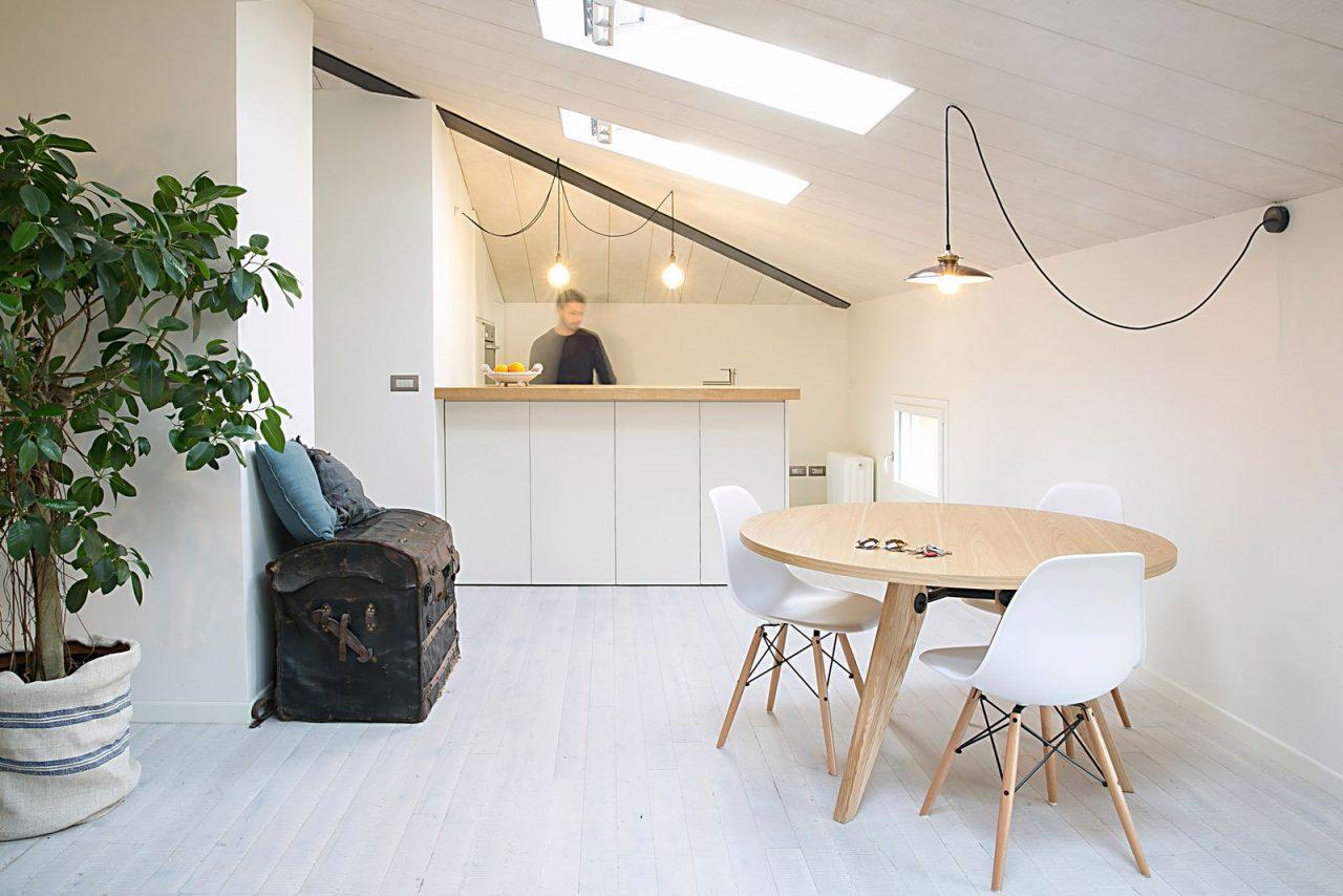 Open space con finestre per tetti