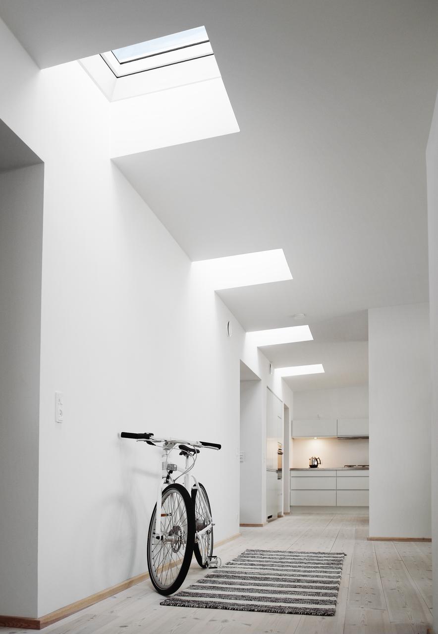 Corridoio con tetto piano