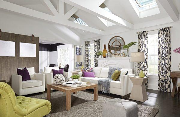 Un soggiorno fresco e luminoso