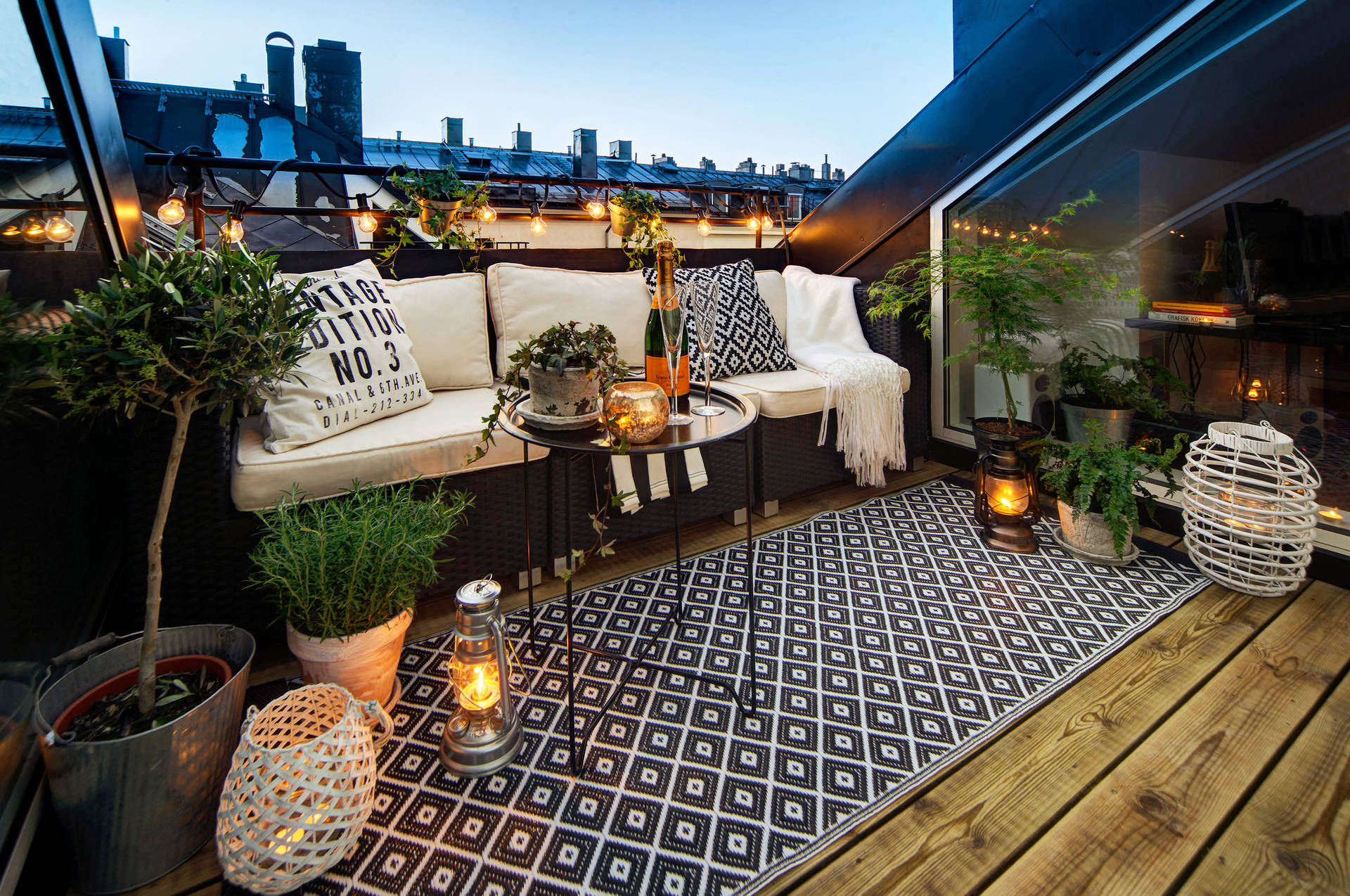 terrazza sui tetti