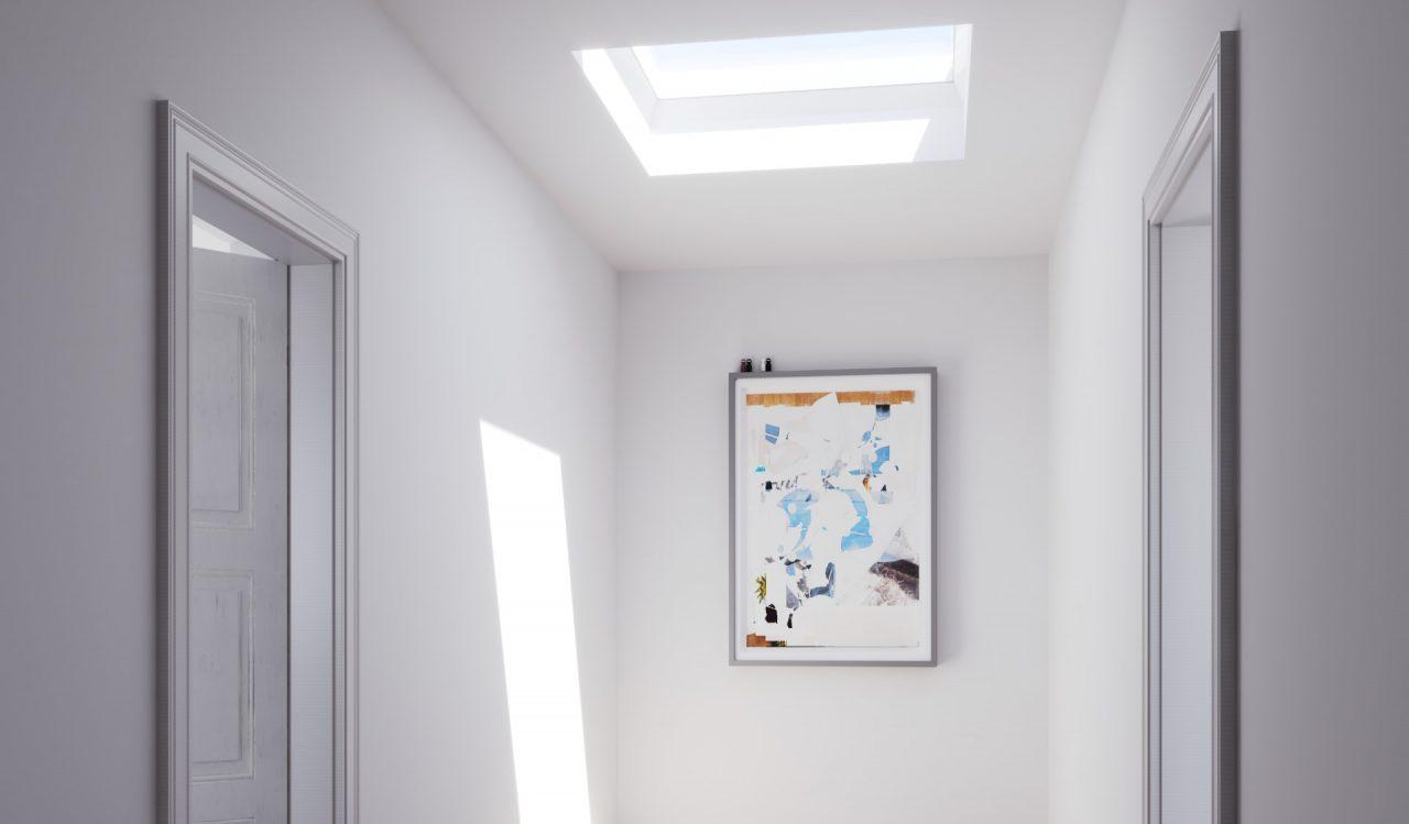 Corridoio illuminato dalla luce naturale