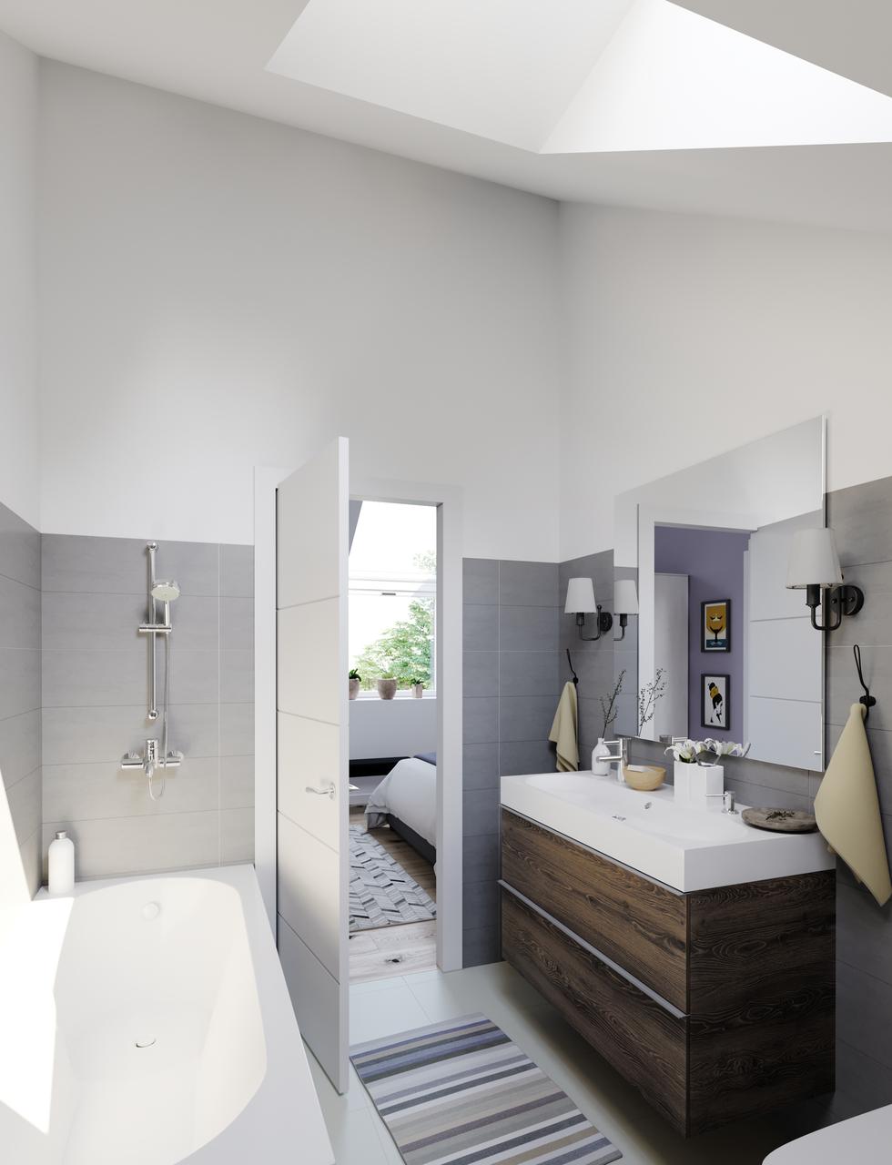 bagno con lucernario