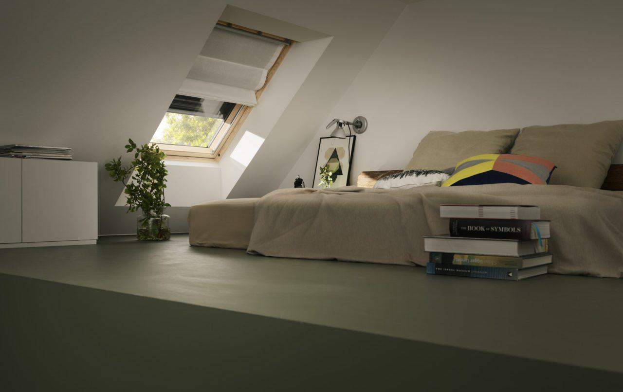 camera da letto con tapparella