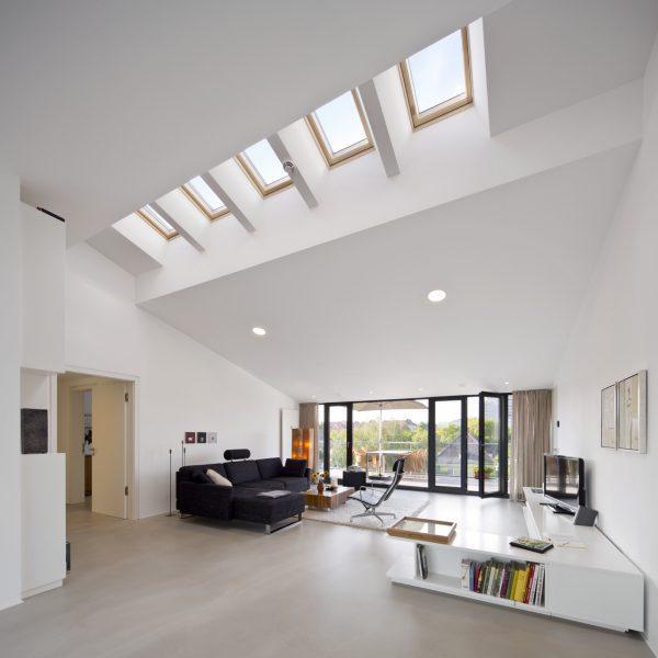 Doppia altezza con finestre sul tetto