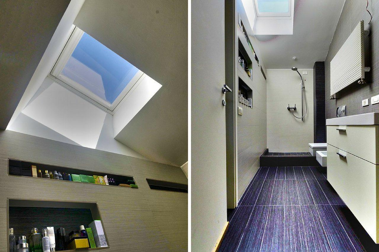 bagni con finestre per tetti