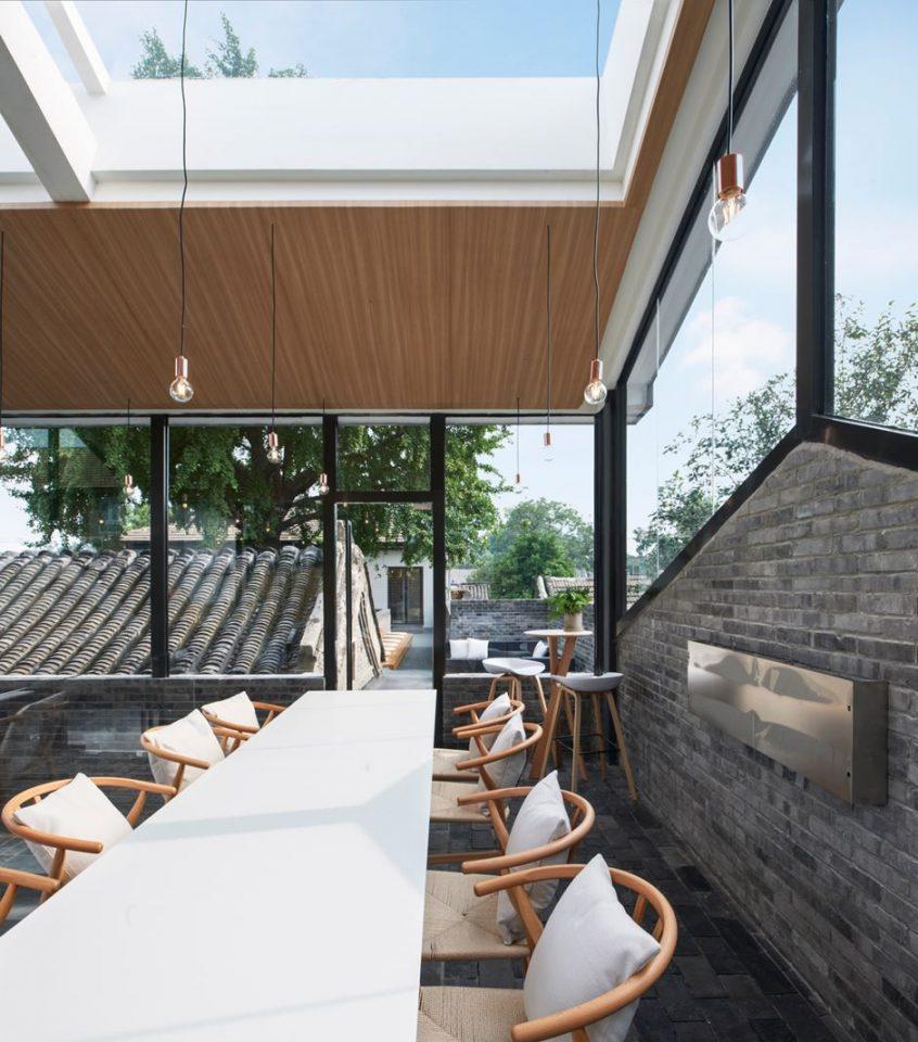 sala da pranzo con lucernario - Mansarda.it