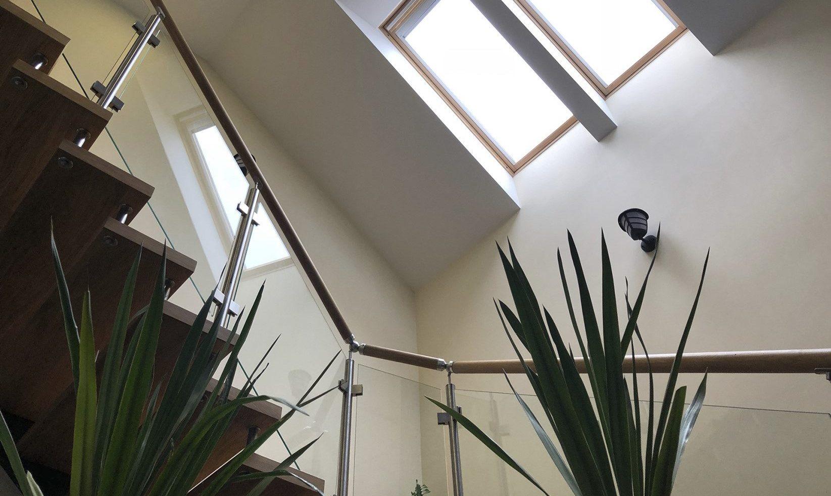 scala con finestre per tetti