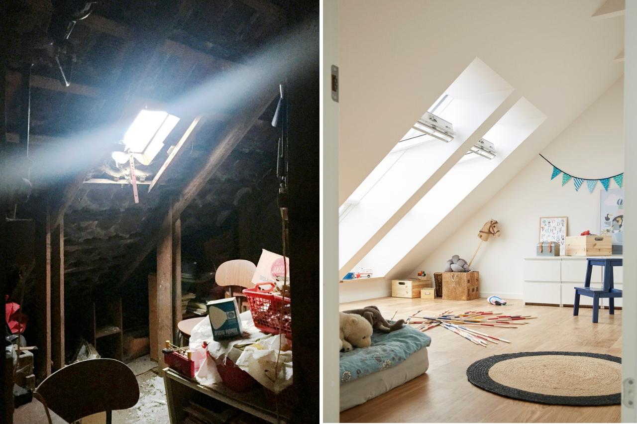 camera prima e dopo