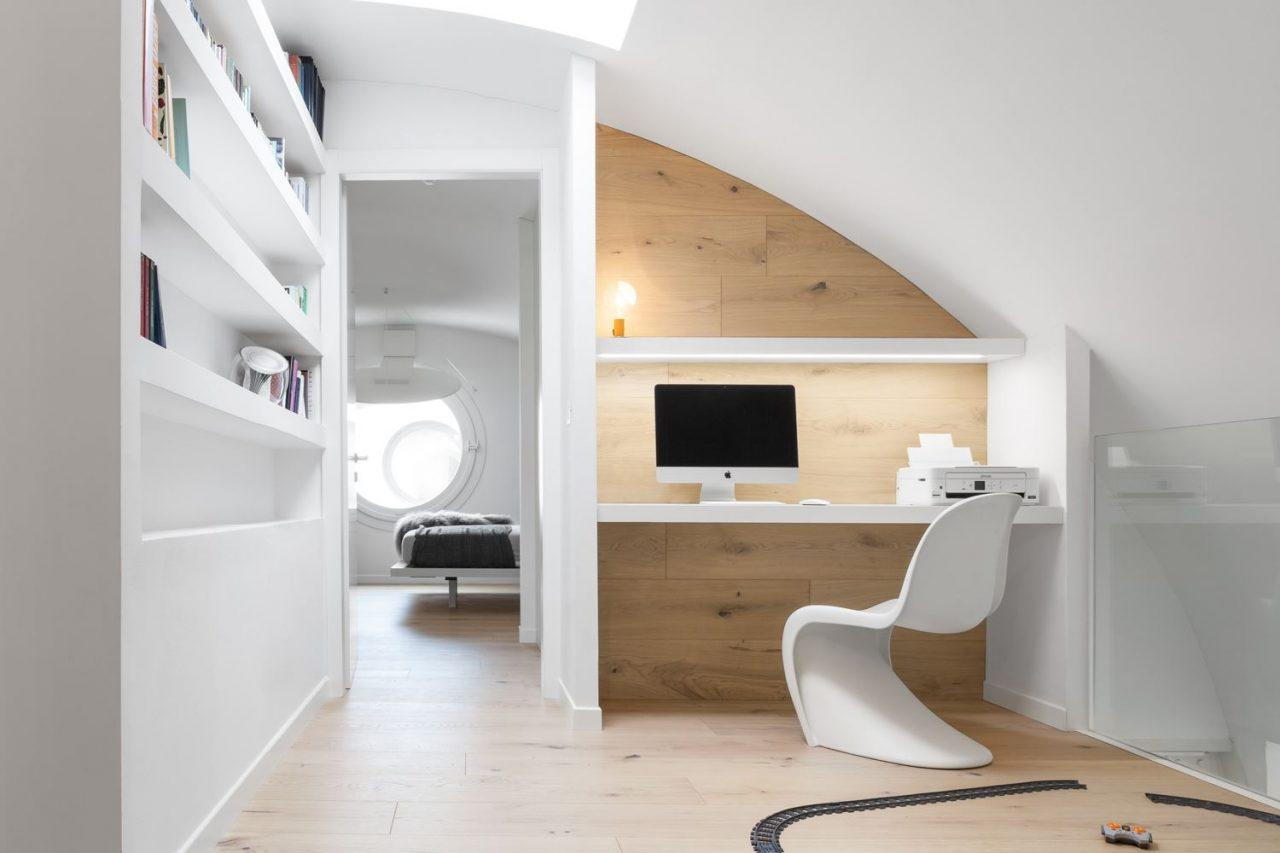 Studio e corridoio for Casa moderna vicenza