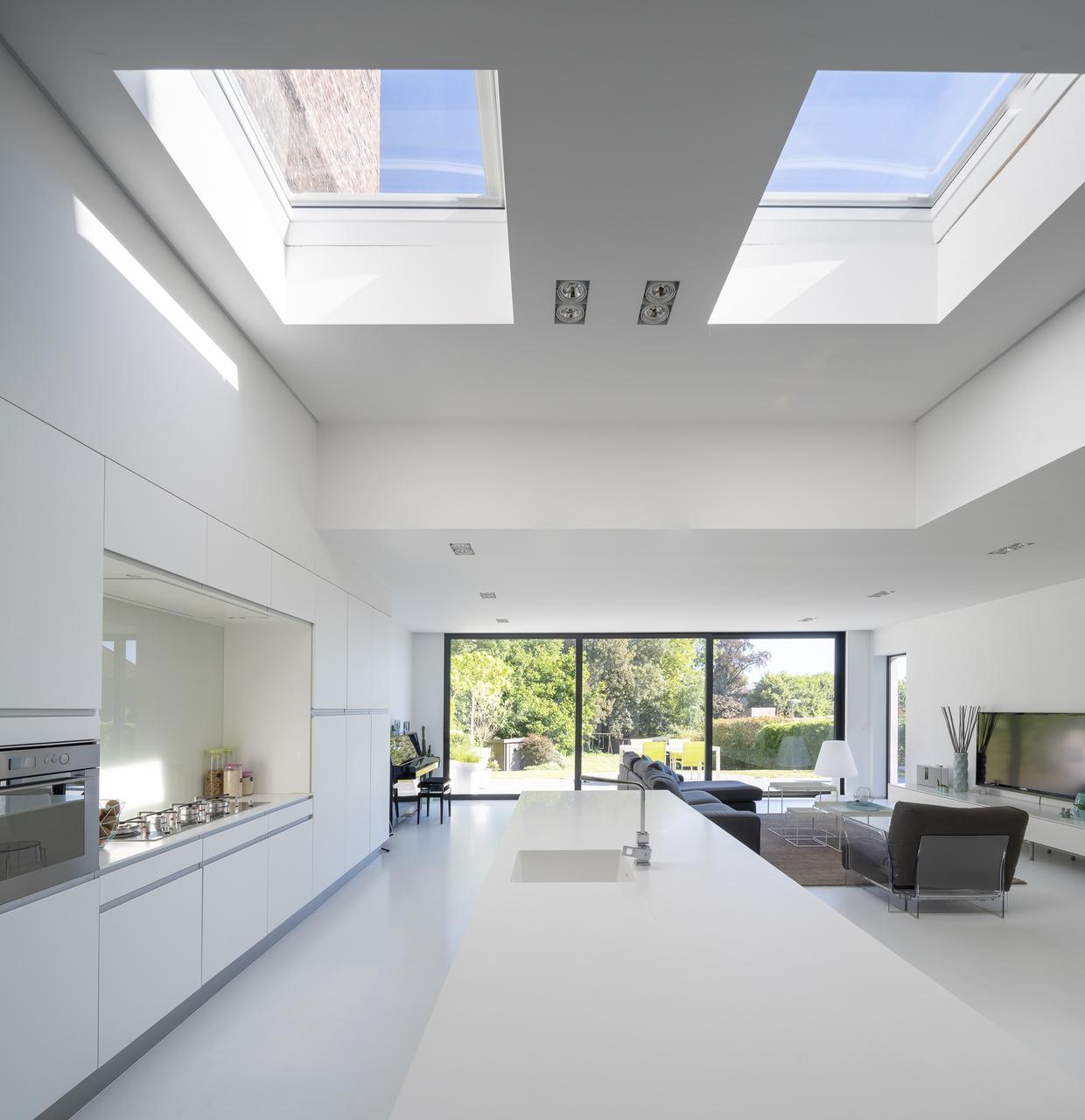 estensione con finestre per tetti