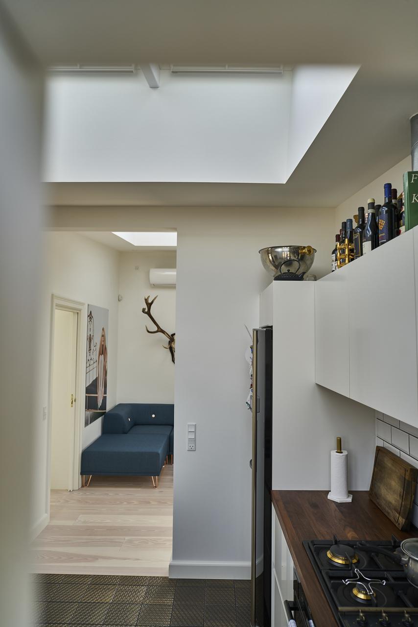 cucina vista soggiorno
