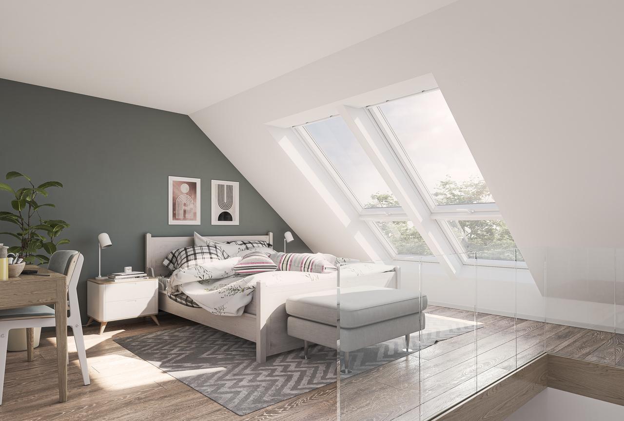 camera con finestre per tetti