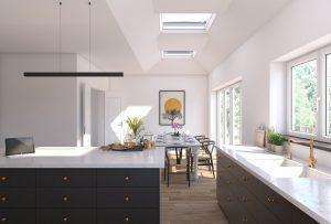 soggiorno con tetto piano