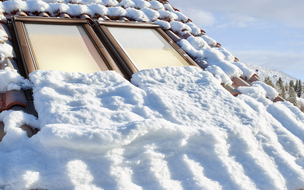 finestre con neve