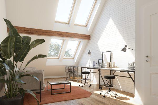 ufficio con finestre