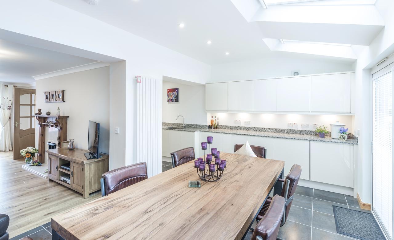 cucina con tetto piano