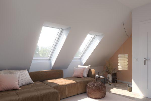 salotto con due finestre