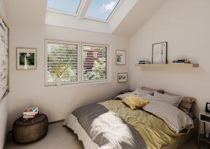 camera con finestre affiancate